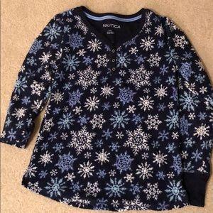 Nautica pajama shirt